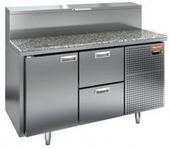 Стол охлаждаемый для пиццы HICOLD PZ1-12/GN (1/3H) с каменной столешницей