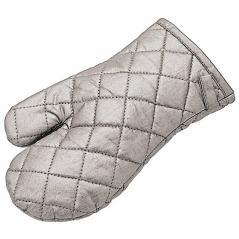 Прихватка-рукавица (до 150С не более 10 сек) текстиль; H=1,L=30,B=17см; серый Paderno