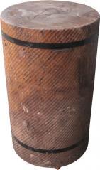Колода разрубочная 550-650мм на деревянных брусьях дуб Высота: 1000мм