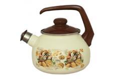 Чайник эмалированный 2456Таково2,5л Сластена со свистком
