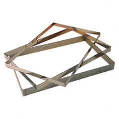 Рама кондитерская сталь нерж. H=3.4,L=56.4,B=37см металлич.