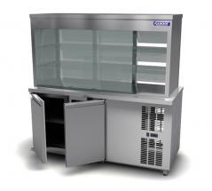 Витрина холодильная Камик ВХ 1500х780х1850 мм (2-е стеклянные полки 8мм.)