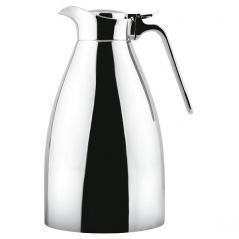 Кофейник-термос сталь нерж. 1.3л H=27.5,L=14.5,B=11.7см серебрян. Paderno