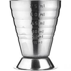 Джиггер 75мл с делениями; сталь нерж.; , L=52мм