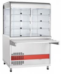 Прилавок-витрина холодильный Abat ПВВ(Н)-70КМ-С-НШ Аста