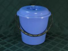 Ведро 10л пластмассовое с крышкой Ø280, h260мм
