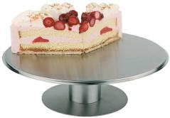 Подставка для торта вращающаяся сталь нерж. D=31,H=67.5,L=34,B=34см металлич.
