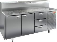 Стол охлаждаемый для пиццы HICOLD PZ1-113/GN (1/3H) с каменной столешницей