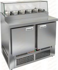 Стол охлаждаемый для пиццы HICOLD PZE1-11/GN стекло