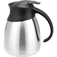 Кофейник-термос сталь нерж.,пластик; 1л; ,H=18,5см; серебрян.,черный