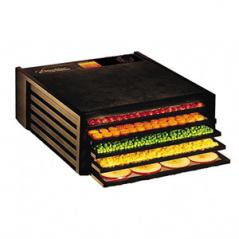 Дегидратор для овощей, зелени 5 лотков пластмас.,поликарбонат H=20,L=50,B=42см 440вт черный