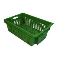 Ящик овощной 600х400х200мм 30л перфорированный, п/м