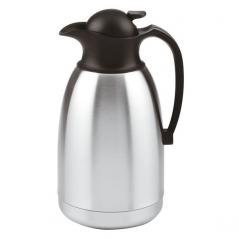 Кофейник-термос сталь нерж.,пластик 2л H=28.2,L=15.5,B=13.5см серебрян.,черный Paderno