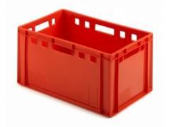 Ящик п/э мясной 600х400х300 сплошной Е3 красный