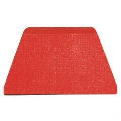 Шпатель кондитерский [10шт] пластик L=22,B=13см красный Paderno