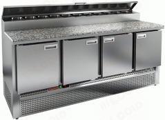 Стол холодильный для пиццы HICOLD PZE2-1111/GN камень