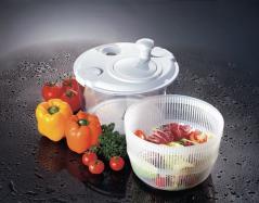 Центрифуга для сушки и мойки овощей пластик D=27,H=23см белый,прозр. Paderno