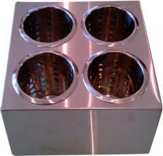 Контейнер для столовых приборов 4 ячейки ( 250х250х130мм )