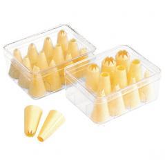 Набор кондитерских насадок [12шт] пластик H=70,L=145,B=115мм желт. Paderno