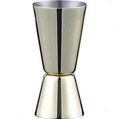 Джиггер 25/50мл; сталь нерж.; , H=8см; золотой