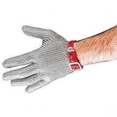Перчатка защитные для разд.мяса,раз.М сталь нерж.; L=23,B=16см; металлич.,красный Paderno