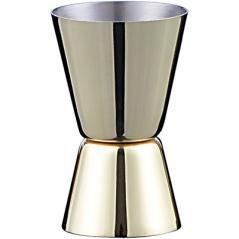 Джиггер 20/40мл; сталь нерж.; H=7см; золотой