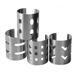 Кольцо для салфеток [4шт] сталь нерж. D=4,H=5см металлич.