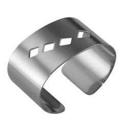 Кольца для салфеток Квадри [4шт] сталь нерж. H=30,L=55,B=40мм металлич.