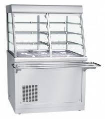 Прилавок-витрина холодильный Abat ПВВ(Н)-70Х-С-НШ HOT-LINE