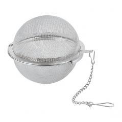 Сито д/чая «Шар»; сталь нерж.; D=65, L=35мм; серебрян.