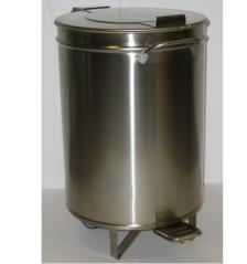 Бак для мусора на колёсах педальный Simeco БМ75П
