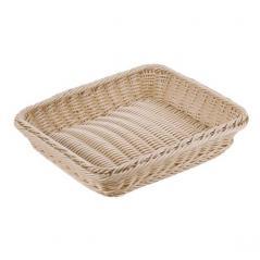 Корзина плетеная для хлеба полиротанг H=6.5,L=32.5,B=26.5см св. дерево Paderno