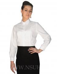 Блуза женская длинный рукав, белая