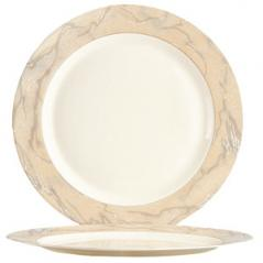Блюдо круглое Сахара стекло D=31см бежев.,песочн