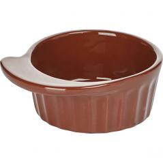 Кокотница Ностальгия керамика 200мл D=120,H=43мм коричнев.