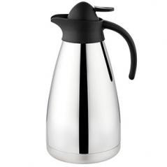 Кофейник вакуумный Санекс сталь нерж.,пластик 1.5л H=18,L=16,B=13.2см серебрян.,черный