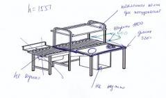 Надстройка для стола одноярусная для посудокассет Simeco НЕ12207