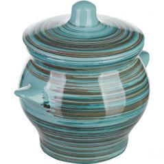 Горшок для запекания «Скандинавия» керамика; 650мл; D=12,H=12см; голуб.