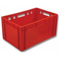 Ящик пластиковый сплошной 600x400x250 красный