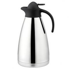 Кофейник вакуумный Санекс сталь нерж.,пластик 2л H=29.5,L=17.7,B=14.2см серебрян.,черный