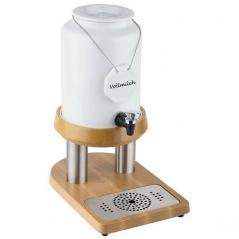 Диспенсер для молока 10л фарфор, нерж, дерев.подставка,с охлажден. APS