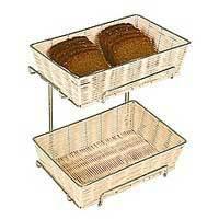 Корзина для хлеба 2шт 32.5х22.5, h=8см ротанг+хром.держатель,h=30 APS