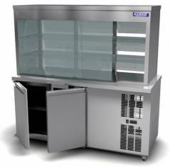 Витрина холодильная Камик ВХ/2 1400х820х855(1735)