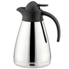 Кофейник вакуумный «Санекс» сталь нерж.,пластик; 1л; H=23,L=15.8,B=13см; серебрян.,черный