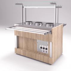 Мармит первых блюд с электросупницами Refettorio RM12D столешница камень