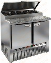 Стол охлаждаемый для пиццы HICOLD PZE1-11/GN камень