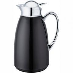Кофейник-термос сталь нерж.,стекло; 1л; ,H=27см; черный,серебрян.