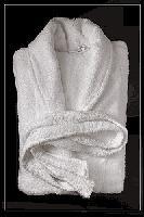 Халат велюровый шалька, белый (плотность 400 г/м2)