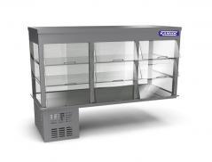 Витрина холодильная встраиваемая Камик ВХ/3 1500х640х390 (1190) (2-е стеклянные полки)