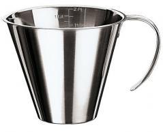Мерный кувшин сталь нерж. 1л D=14.5/18.5,H=13.5,L=19.5,B=15см металлич. Paderno